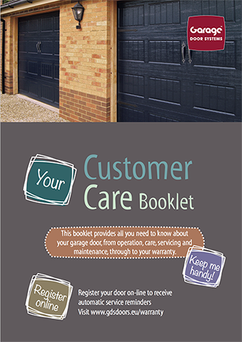 Front cover of the customer care booklet