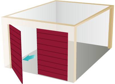 DuraTherm Insulated Side-Hinged Garage Door